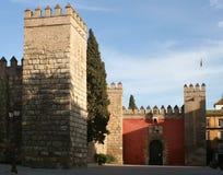 Het kasteel van Sevilla stock fotografie
