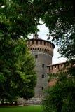 Het Kasteel van Sforza Stock Fotografie