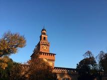 Het Kasteel van Sforza Stock Foto