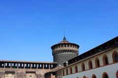 Het Kasteel van Sforza, Milaan Royalty-vrije Stock Foto's