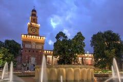 Het Kasteel van Sforza, Milaan, Italië Royalty-vrije Stock Foto's