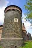 Het kasteel van Sforzesco Royalty-vrije Stock Foto's