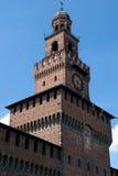 Het kasteel van Sforzesco stock fotografie