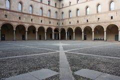 Het Kasteel van Sforzesco, in Milaan Stock Foto