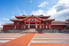 Het Kasteel van Shuri in Naha, Okinawa, Japan royalty-vrije stock fotografie