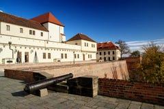 Het kasteel van Spilberk, Brno Stock Foto's