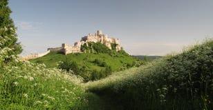 Het kasteel van Spissky hrad Stock Foto