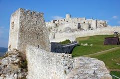 Het kasteel van Spissky hrad, Slowakije Stock Afbeelding