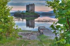 Het kasteel van Stalker in Hooglanden Royalty-vrije Stock Foto