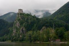 Het kasteel van Strecno Stock Foto's