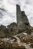 Het kasteel van TematÃn Stock Afbeeldingen