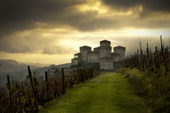 Het Kasteel van Torrechiara stock fotografie