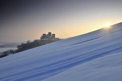 Het Kasteel van Torrechiara op de winter #2 stock foto's