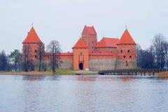 Het kasteel van Trakai Stock Fotografie