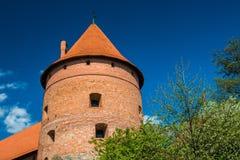 Het kasteel van Trakai Stock Foto's