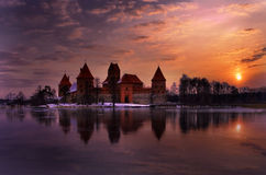 Het kasteel van Trakai. Royalty-vrije Stock Afbeelding