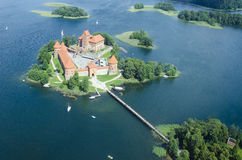 Het kasteel van Trakai, Litouwen Royalty-vrije Stock Foto's