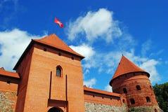 Het kasteel van Trakai in Litouwen Stock Afbeeldingen