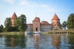 Het kasteel van Trakai, Litouwen Stock Foto's