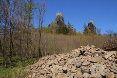 Het kasteel van Trosky Royalty-vrije Stock Foto