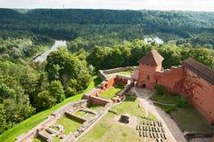 Het kasteel van Turaida Stock Foto's