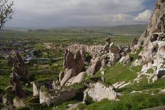 Het kasteel van Uchisar, Cappadocia, Turkije Stock Afbeeldingen