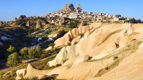 Het Kasteel van Uchisar in Cappadocia, Turkije Royalty-vrije Stock Afbeeldingen