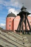 Het Kasteel van Uppsala, Zweden Stock Foto