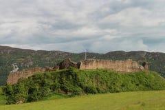 Het Kasteel van Urquhart, Loch Ness, Schotland Royalty-vrije Stock Foto's