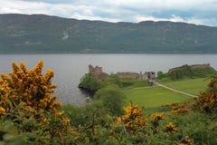 Het Kasteel van Urquhart, Loch Ness, Schotland Stock Afbeeldingen