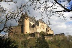 Het kasteel van Vianden Stock Fotografie