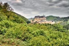 Het Kasteel van Vianden in Luxemburg Royalty-vrije Stock Foto's