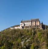 Het kasteel van Vianden in Luxemburg Stock Afbeelding
