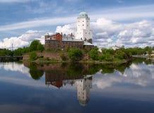 Het Kasteel van Vyborg Stock Foto