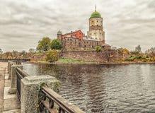 Het Kasteel van Vyborg Stock Afbeelding