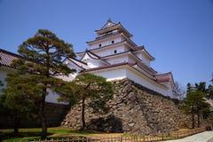 Het Kasteel van Wakamatsu van Aizu, Fukushima, Japan Royalty-vrije Stock Foto