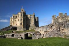 Het kasteel van Warkworth Royalty-vrije Stock Afbeeldingen