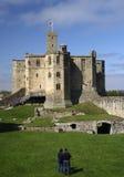 Het kasteel van Warkworth Stock Afbeelding