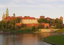 Het Kasteel van Wawel in Krakau Stock Afbeelding