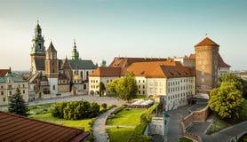Het Kasteel van Wawel in Krakau royalty-vrije stock foto's