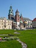 Het Kasteel van Wawel, Krakau Stock Fotografie