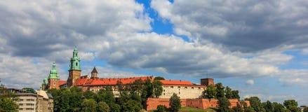 Het Kasteel van Wawel in Krakau Royalty-vrije Stock Afbeeldingen