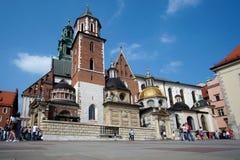 Het Kasteel van Wawel in Krakau Polen stock afbeelding