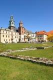 Het kasteel van Wawel, Krakau, Polen Stock Foto
