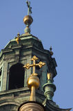Het Kasteel van Wawel, Krakau, Polen stock afbeelding
