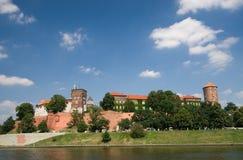 Het Kasteel van Wawel in Krakau, Polen stock foto