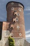 Het Kasteel van Wawel in Polen Krakau in een eerste hoofdstad van Polen Stock Afbeelding