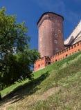 Het Kasteel van Wawel in Polen Krakau in een eerste hoofdstad van Polen Royalty-vrije Stock Afbeeldingen