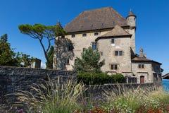 Het kasteel van Yvoire Stock Foto