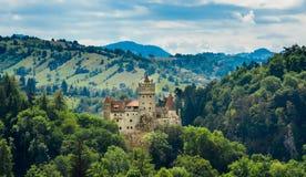 Het Kasteel van zemelen - het Kasteel van Dracula van de Telling, Roemenië royalty-vrije stock fotografie